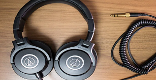 A Pair of Audio-Technica-ATH-M40x Headphones