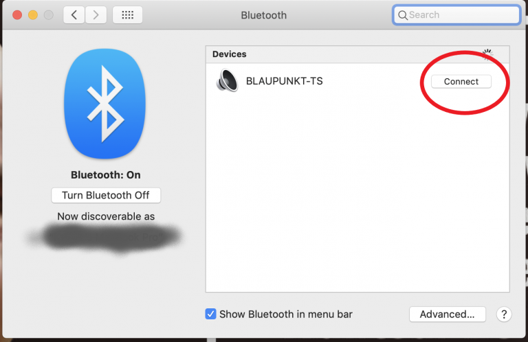 Connect Bluetooth Device on Mac