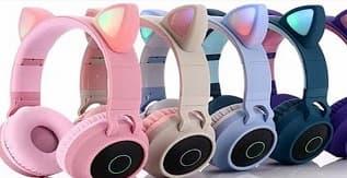 Luckyu Wireless Cat-Ear Headphones in Beautiful Colors