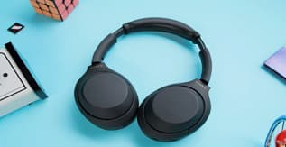 A Pair of Sony WH-1000XM4 Wireless Headphones