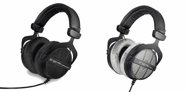 Different colors models of the Beyerdynamic DT 990 Pro Headphones