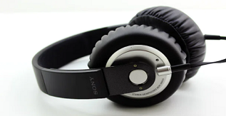 A Pair of Sony MDR-XB500 Headphones