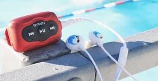 Swimbuds SPORT Waterproof Headphones and SYRYN Waterproof MP3 Player