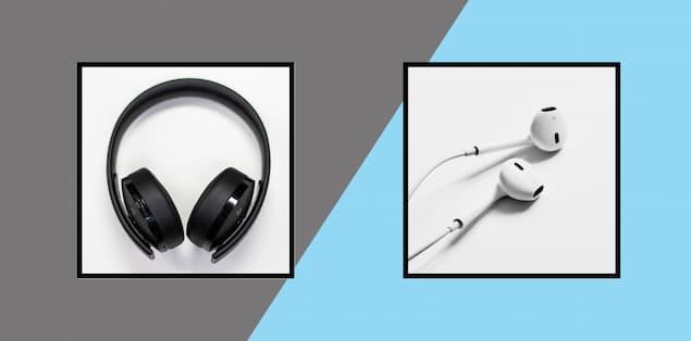 over-the-ear versus in-ear shower headphones