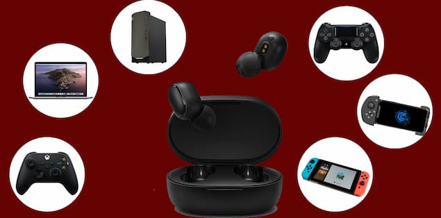 Gaming earbuds are compatible with multiple platforms