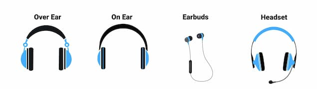 Earbuds vs Headphones vs Headsets