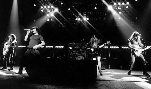 AC/DC concert in 1980