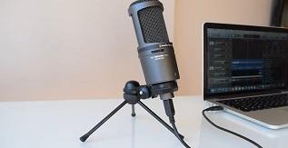 Audio-Technica AT2020USB - Cardioid Condenser USB Microphone