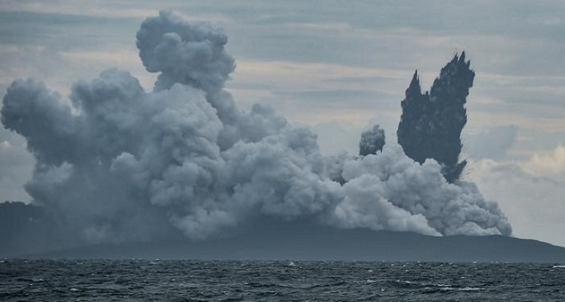 The Krakatoa volcanic eruption