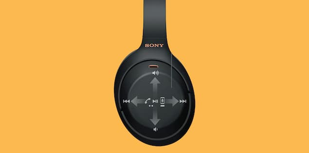 Sony WH-1000XM4 Headphones Touch Controls