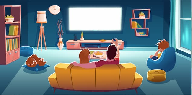 Movie night with family