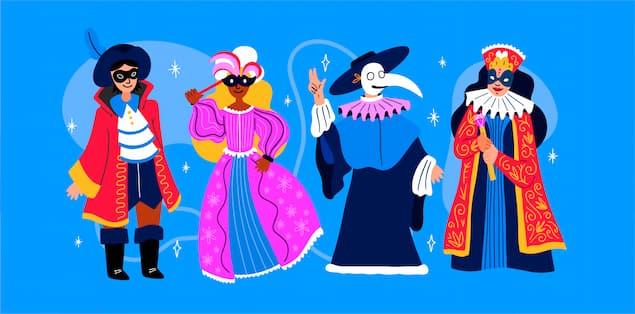 Plan a masquerade party indoors
