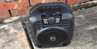 11. EARISE T26 Portable Karaoke Machine Bluetooth Speaker with Wireless Microphone