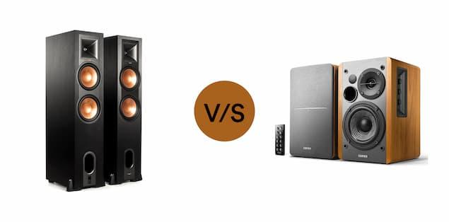 Floor standing versus bookshelf speakers