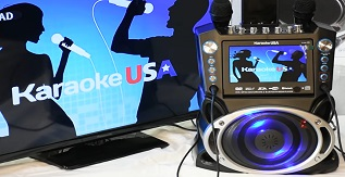 Karaoke USA GF842 DVD-CDG-MP3G Karaoke Machine with 7 TFT Color Screen