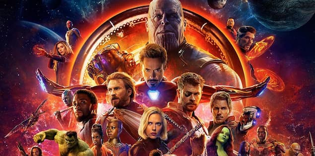 The Avengers: Infinity War (Year of Premier: 2018)