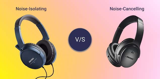 Difference Between Noise Isolation and Noise Cancelation